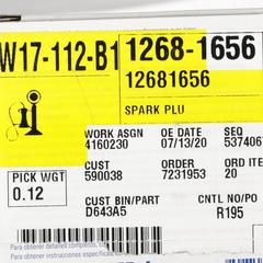 Spark Plug - GM (12681656)