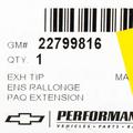 2007-2013 Cadillac/Chevy/GMC Chrome Exhaust Tip Genuine OEM NEW 22799816 - GM (22799816)