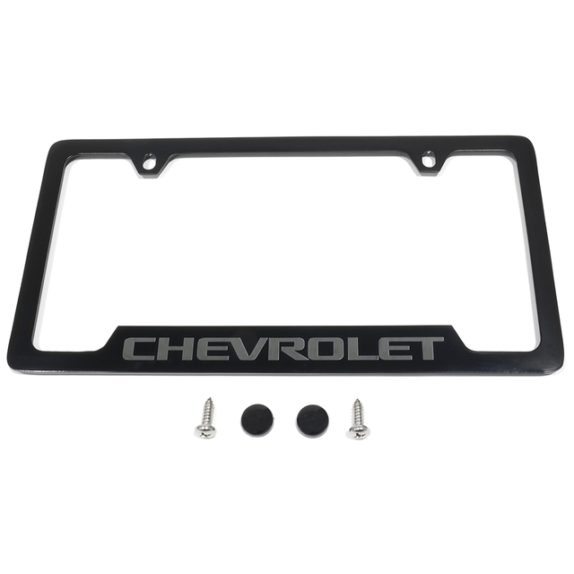 License Plate Frame, Chevrolet, Black - GM (19330391) | Quirk Parts