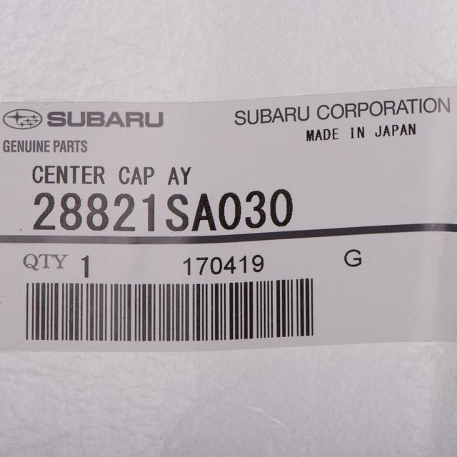 2012-2013 SUBARU FORESTER GREY center cap 28821SA030