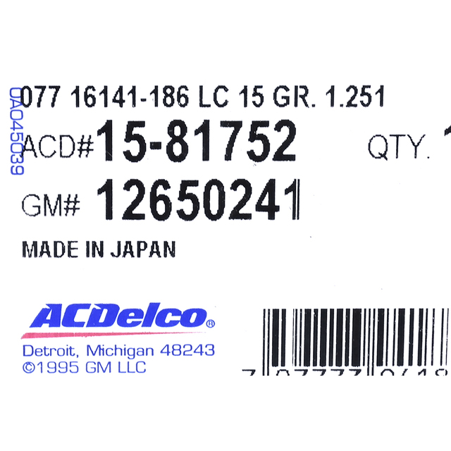 AC Delco Thermostat Housing New for Chevy 12650241 Sedan Chevrolet 15-81752