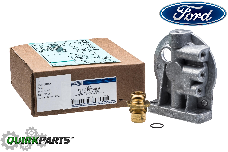 ford f250 f350 6 9l 7 3l idi diesel fuel filter housing header oem  f2tz9b249a -