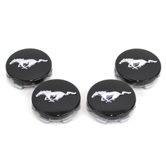 2015 Ford Mustang Black Wheel Hub Center Caps Covers Set Of 4 OEM NEW Factory Genuine - Limited Stock Available - FR3Z1130C - Ford (FR3Z-1130-C)