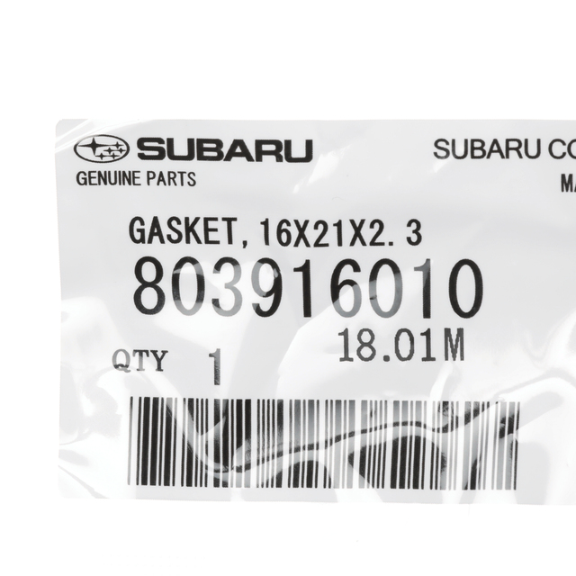 One New Genuine Engine Oil Drain Plug Gasket 803916010 for Subaru /& more