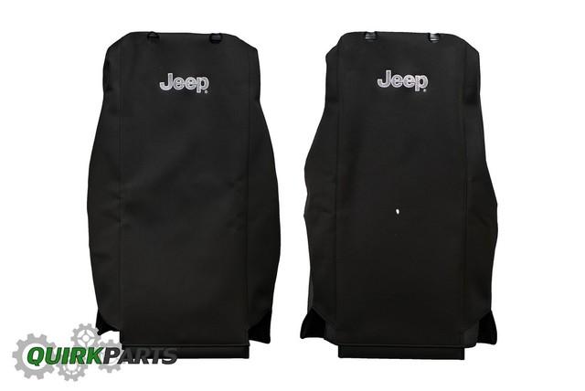 11 12 Jeep Wrangler Black Front Seat Covers Mopar Genuine Oem Brand