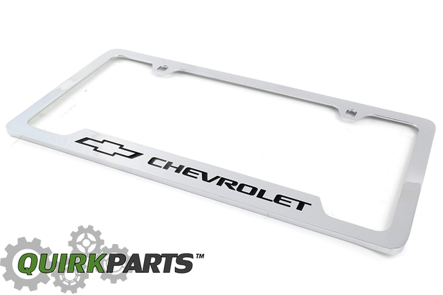 License Plate Frame, Bow-Tie Logo - GM (19330379)   Quirk Parts