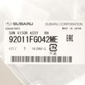 OEM NEW 2008-2014 Subaru Impreza Passenger Side Sun Visor Assembly 92011FG042ME - Subaru (92011FG042ME)