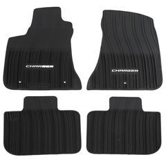 OEM NEW 11-20 Mopar Dodge Charger All Weather Mats Kit Floor Complete 82212236AC - Mopar (82212236AC)