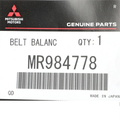 Belt - Mopar (MR984778)