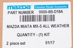 2006-2013 Mazda MX-5 Miata All Weather Floor Mats OEM BRAND NEW Genuine - Mazda (0000-8B-D18A)