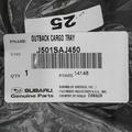 2010-2014 Subaru Outback Rear Cargo Tray / Mat Liner Black Genuine OEM NEW - Subaru (J501SAJ450)