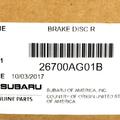 Brake Rotor - Subaru (26700AG01B)