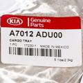 2014 Kia Forte Rubber ALL-WEATHER Cargo Area Tray Genuine OEM BRAND NEW - Kia (A7012-ADU00)
