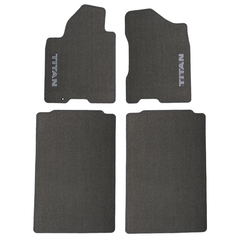 2004-2007 Nissan Titan Crew Cab Gray Carpeted Floor Mats Front & Rear OEM NEW - Nissan (999E2-WQ101GY)