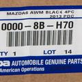Floor Mats, All Weather - Mazda (00008BH70)