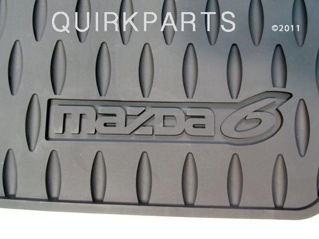 2006 2007 2008 Mazda6 Floor Mats All Weather Set of 4) Black OEM - Mazda (0000-8B-H36)