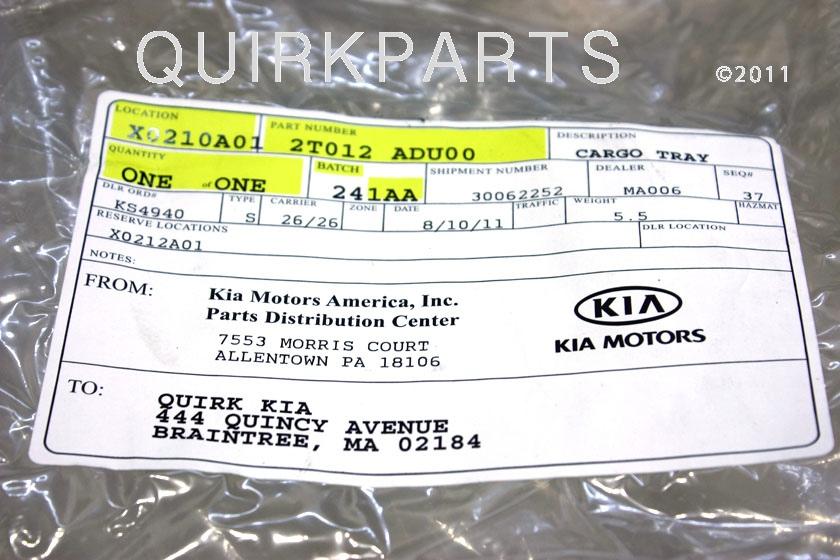 2011-2012 Kia Optima Rubber Cargo Mat Tray GENUINE OEM BRAND NEW - Kia (2T012-ADU00)