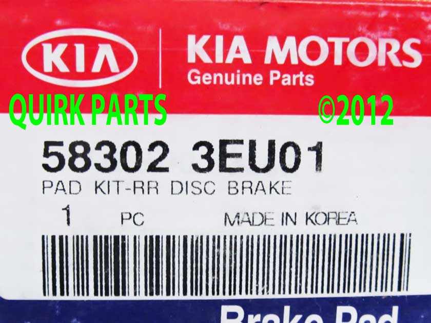 Brake Pads - Kia (58302-3EU01)