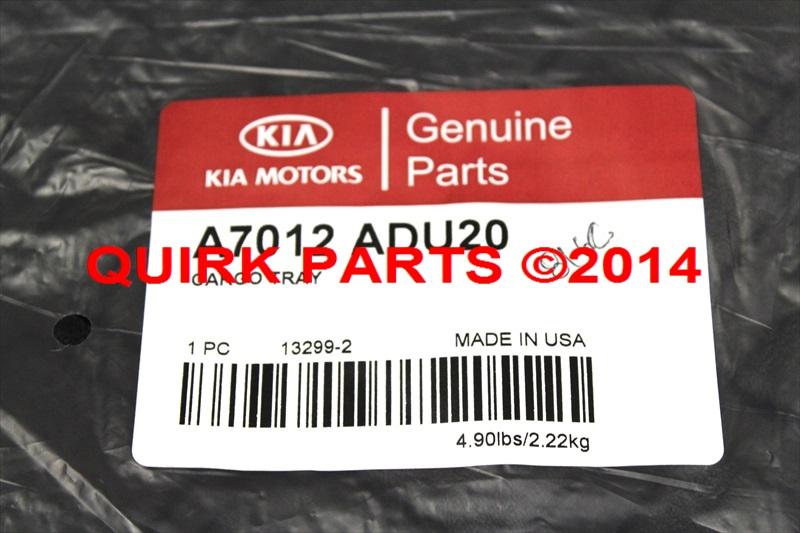 2014 Kia Forte Koup All Weather Cargo Tray Genuine OEM BRAND NEW A7012-ADU20 - Kia (A7012-ADU20)
