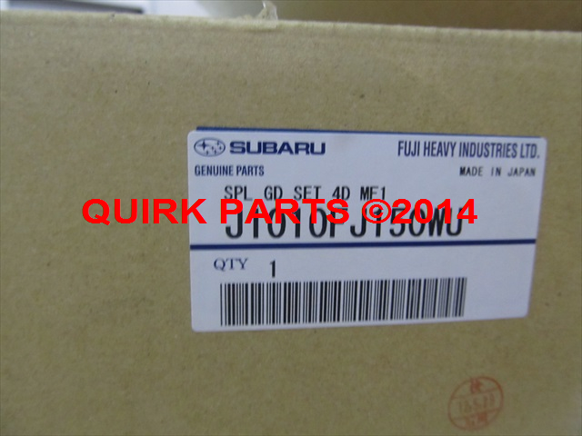 2012-2014 Subaru Impreza 4-D Splash Guard Mud Flap Set Satin White Pearl OEM NEW - Subaru (J1010FJ150WU)