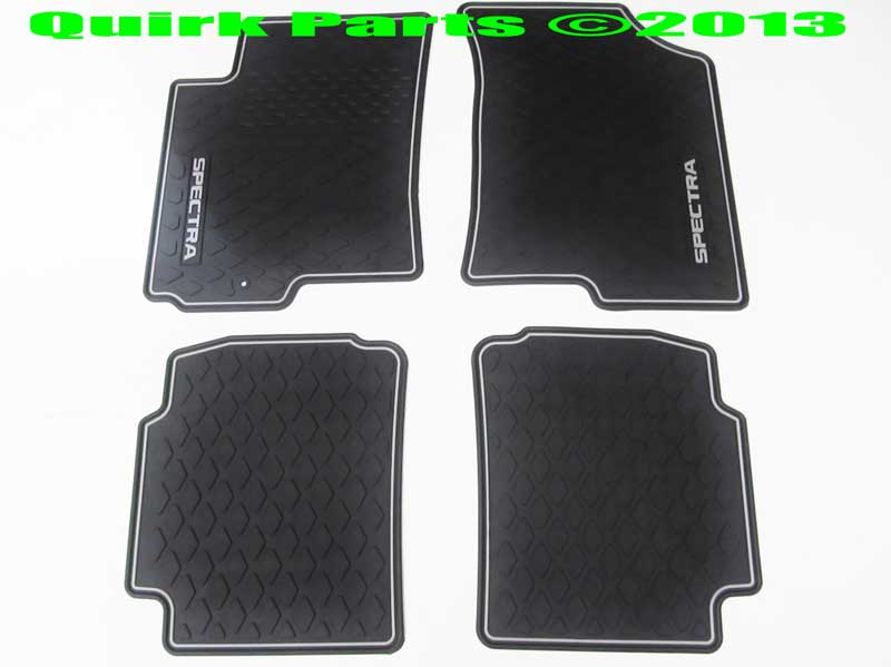 2004-2006 Kia Spectra Front and Rear All Weather Floor Mats Black OEM NEW - Kia (UC050-AY125)