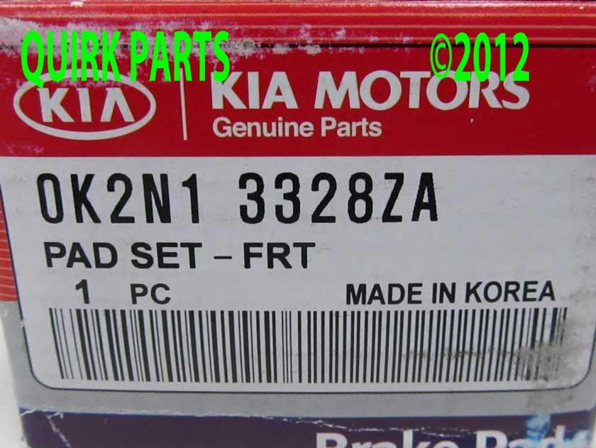 Front Pads - Kia (0K2N1-3328ZA)