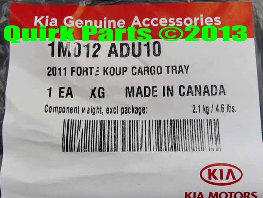 2011-2013 Kia Forte Koup Rubber Cargo Area Tray Genuine OEM BRAND NEW - Kia (1M012-ADU10)