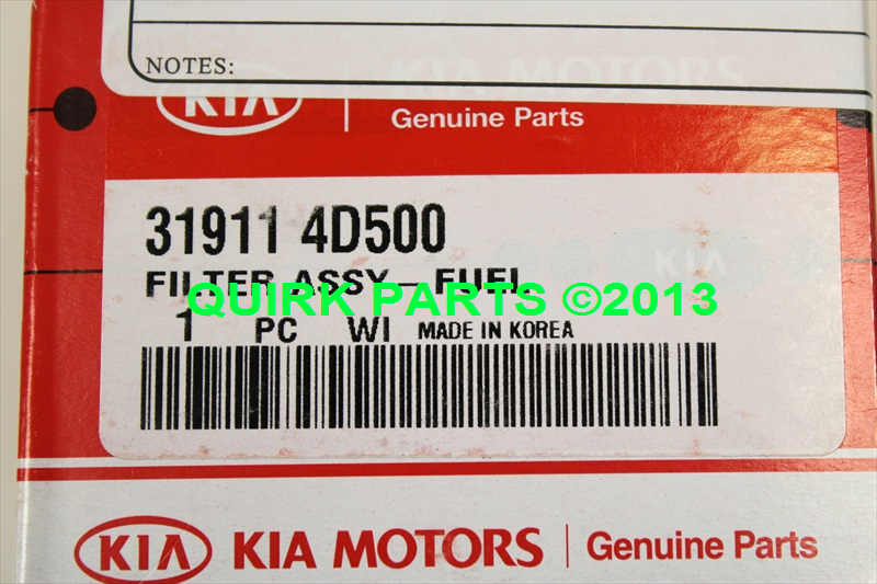 2006-2012 Kia Sedona Sorento Soul Fuel Filter Assembly GENUINE OEM BRAND NEW - Kia (31911-4D500)