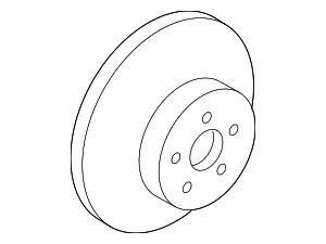 Disc Brake Rotor - Toyota (43512-0R020)