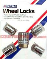 Wheel Locks (4-pc set) - Exposed, Closed-end nut - NISMO (999h1a7003)
