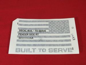 American Flag Decal, Right - Mopar (68500062AA)