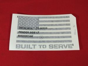 American Flag Decal, Left - Mopar (68500061AA)