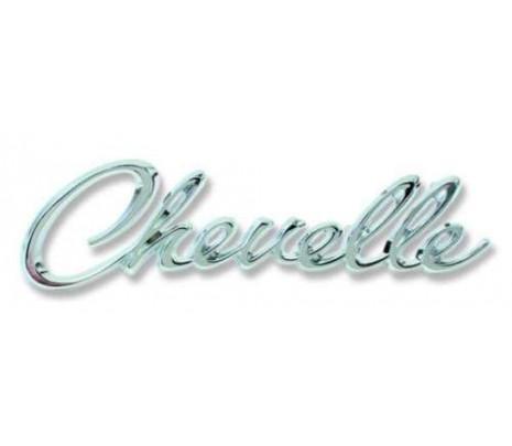 1968-69 Chevelle Header Panel Emblem CHEVELLE (import) - Classic Muscle (1260C)