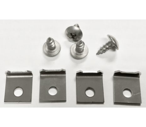 1955-59 GM Truck Door W/Strip Retainer Kit (8pcs) 2 kits Required - Classic Muscle (847721)
