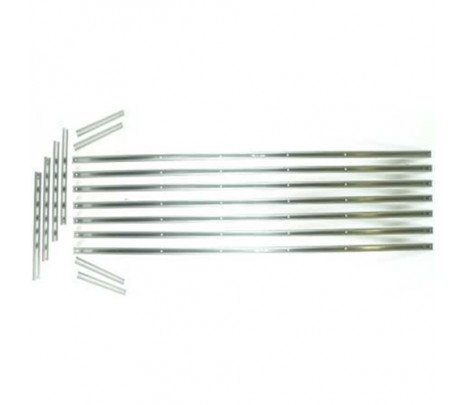 1958-1959 Fleetside Short Bed Stainless Unpolished Bed Strips (8 pieces) OVERSIZE ITEM - Classic Muscle (110071-M)
