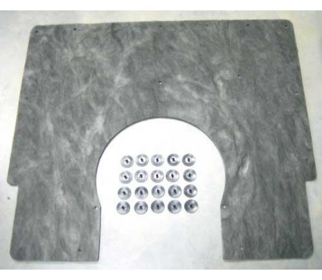 1967-1969 Cowl Insulation with Clips - Classic Muscle (3949716)
