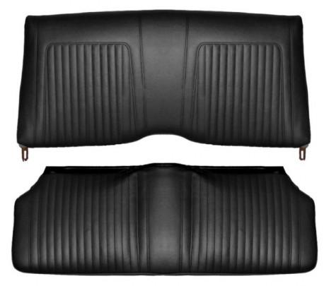 1967-1968 Camaro Rear Convertible Standard Interior Seat Covers Black - Classic Muscle (67FS10V)