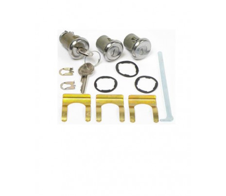 1964 and 1965 and 1968 Chevelle Door and Trunk lock kit with OE Style Keys - Classic Muscle (135A-CL)