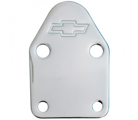 Chrome Fuel Pump Block-off Plate Small Block - Classic Muscle (141-210)