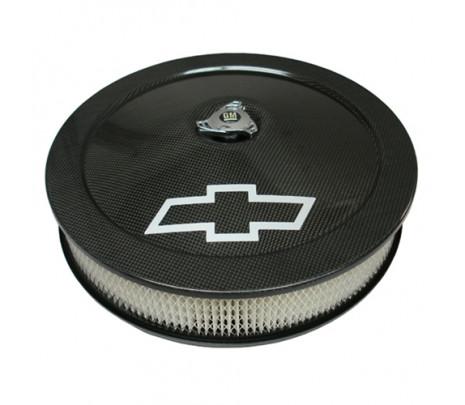 Carbon fiber, silver Bowtie logo - Classic Muscle (141-790)