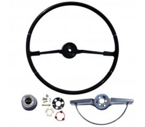 1965 Impala Steering Wheel Kit, Black, Includes Horn Ring, - Classic Muscle (9301BB)