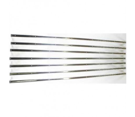 1955-1957 Stepside LongBed Bed Strips Stainless Unpolished [7 piece] 89 inches OVERSIZE ITEM - Classic Muscle (110047-M)