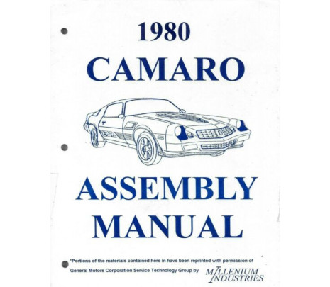 1980 Camaro Assembly Manual - Classic Muscle (14008243)