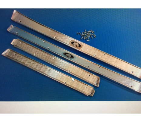 1956-57 Chevy 4-Door Hardtop Sill Plates With Mounting Hardware - Classic Muscle (MH61175)