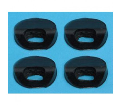 1955 1956 BELAIR METAL UPPER SEAT STOPS ON SEAT BACKS (4 PCS) - Classic Muscle (11909-128)