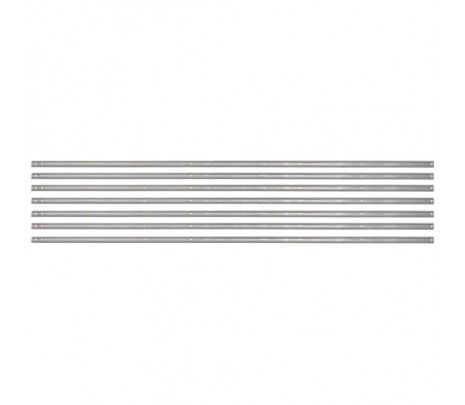 1957-1959 Stepside Long Bed Bed Strips Stainless Unpolished [7 piece] 97 inches OVERSIZE ITEM - Classic Muscle (110050-M)