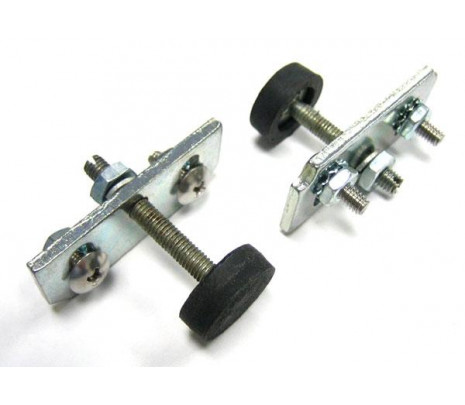 1955-1957 Hardtop, Convertible & Nomad Window Stop Adjusters, Plates, Cushions & Mounting Hardware Kit (does 1 door) - Classic Muscle (4694385K)