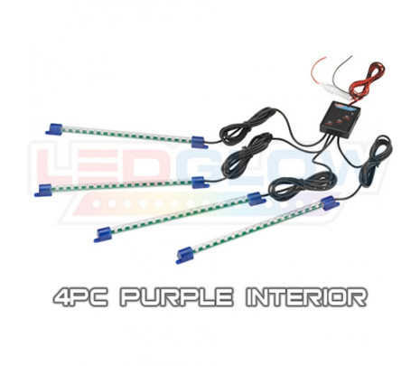 Purple 4pc LED Interior Kit - Classic Muscle (RP6015)