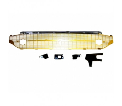 1957 Belair Grille Assembly W/Chrome Brace 6 Piece Gold Grille - Classic Muscle (RP1350)