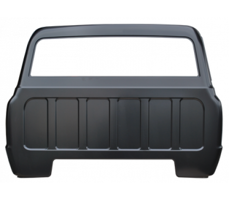 1967-72 C10 Full Cab Back Panel, Big Back Glass w/o cargo light hole (TRUCK FREIGHT) - Classic Muscle (849118)